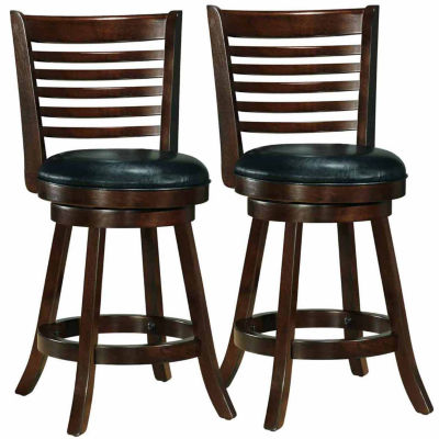 Woodgrove Cappuccino Stained Counter Height Bar Stool