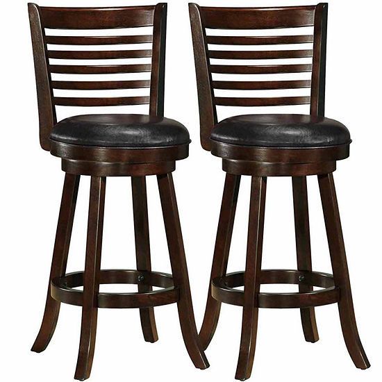 Woodgrove Cappuccino Stained Bar Height 2-pc. Bar Stool