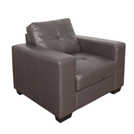 Club Bonded Leather Chair, One Size , Brown