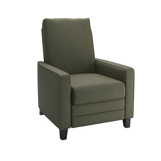Kelsey Linen Fabric Track-Arm Recliner