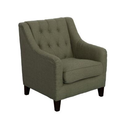 Dana Diamond Tufted Linen Fabric Chair