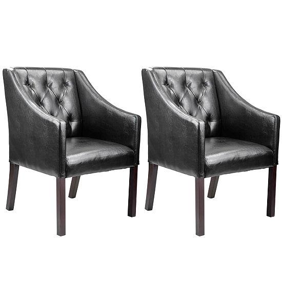 Antonio Leather Club Chair-Set of 2