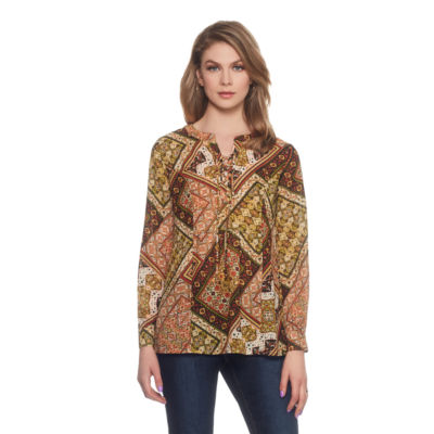 Skyes The Limit Sullivan County Patch Print Tunic- Plus