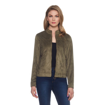 Skyes The Limit Sullivan County Faux Suede Motorcycle Jacket-Plus