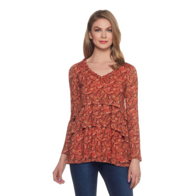 Skyes The Limit Sullivan County Tiered Ruffle Top- Plus