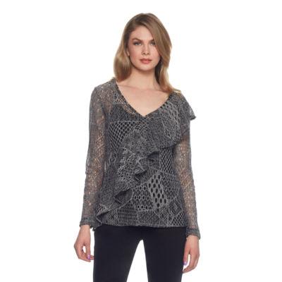 Skyes The Limit Venezia Ruffle Patchwork Lace Top- Plus