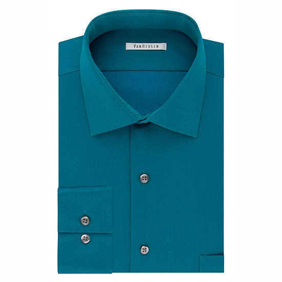 Van Heusen Flex Cool Collar Reg Fit Long-Sleeve Woven Dress Shirt