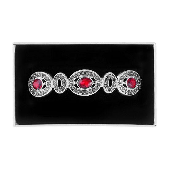 Liz Claiborne Red Oval Stretch Bracelet