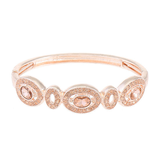 Liz Claiborne Pink Oval Stretch Bracelet
