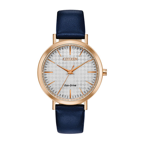 Drive from Citizen Womens Blue Leather Strap Watch-Em0763-07a