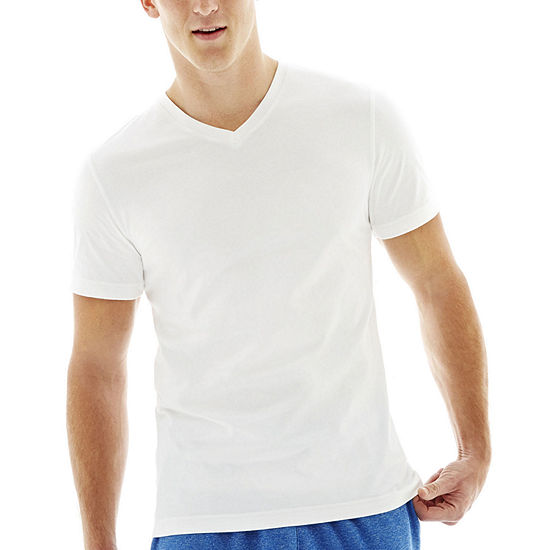Xersion Cotton Mens V Neck Short Sleeve T-Shirt