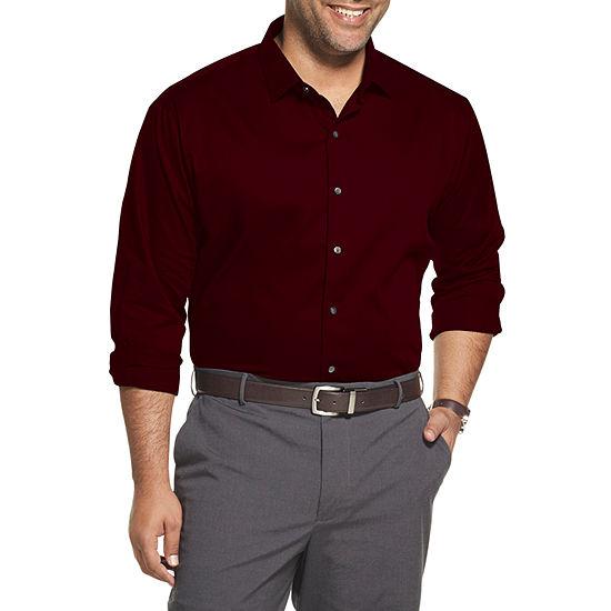 Van Heusen Big and Tall Mens Long Sleeve Striped Button-Front Shirt