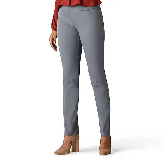 Lee® Sculpting Womens Mid Rise Slim Pull On Pants