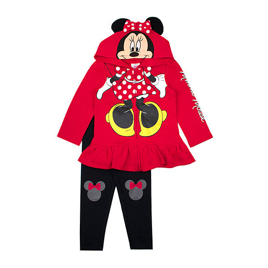 Disney Girls 2-pc. Minnie Mouse Legging Set-Preschool