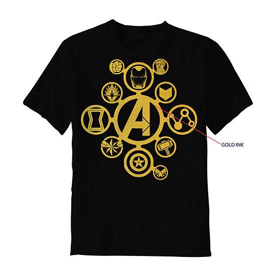 Boys Crew Neck Short Sleeve Avengers T-Shirt Preschool / Big Kid