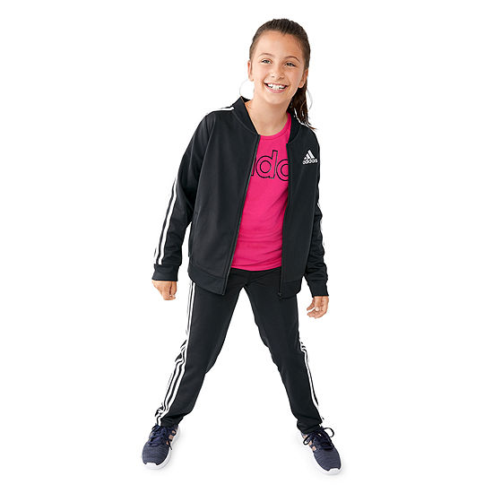 Adidas Girls Track Suit & Logo Tee