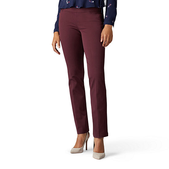 Lee Sculpting Womens Mid Rise Slim Pull-On Pants