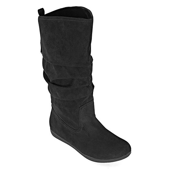 Arizona Womens Kasper Flat Heel Wide Calf Slouch Boots