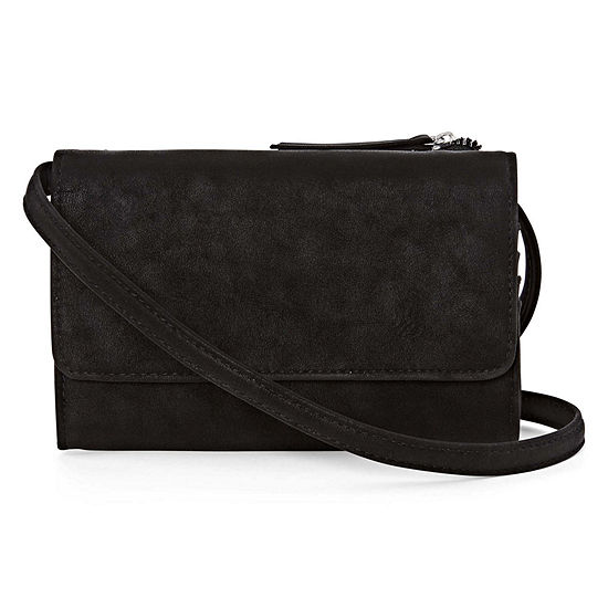 Double Compartment Wallet Crossbody Bag