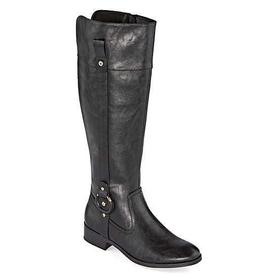 Royu Womens Stacy Stacked Heel Riding Boots