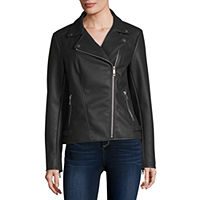 JCPenney deals on A.N.A Faux Leather Lightweight Motorcycle Jacket