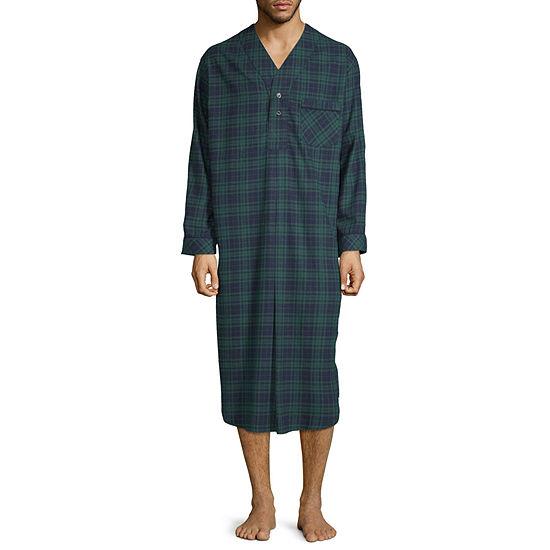 Stafford Mens Flannel Nightshirt Long Sleeve