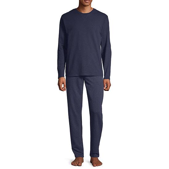 Stafford Mens Long Sleeve Set 2-pc Pant Pajama