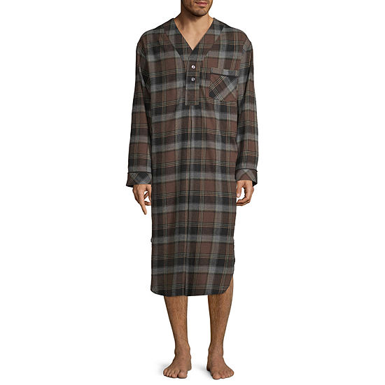 Stafford Men's Solid Flannel Nightshirt - Big