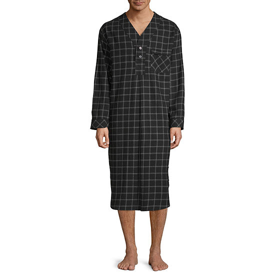 Stafford Mens Flannel Nightshirt Long Sleeve