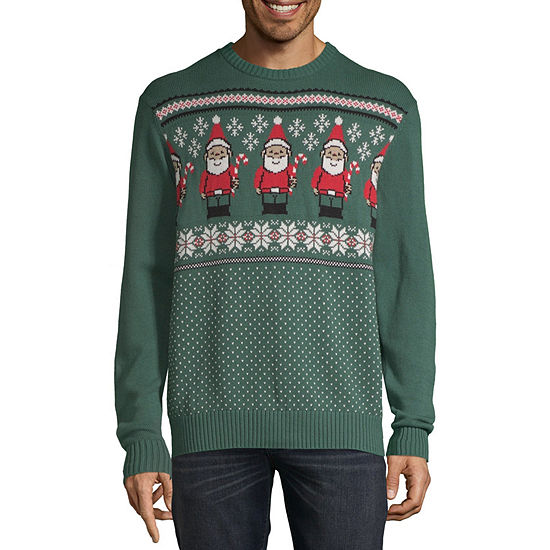 St. John's Bay Holiday Crew Neck Long Sleeve Pullover Sweater