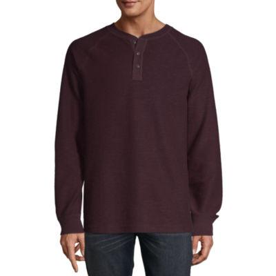 St. John's Bay Outdoor Rugged Mens Long Sleeve Henley Shirt