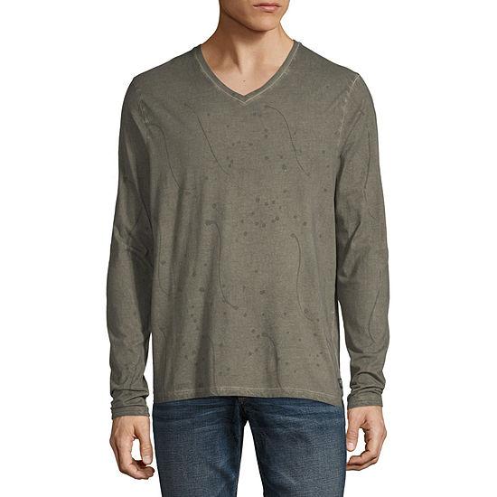 i jeans by Buffalo Mens V Neck Long Sleeve T-Shirt