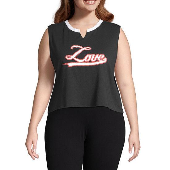 Flirtitude Womens V Neck Short Sleeve Tank Top Juniors Plus