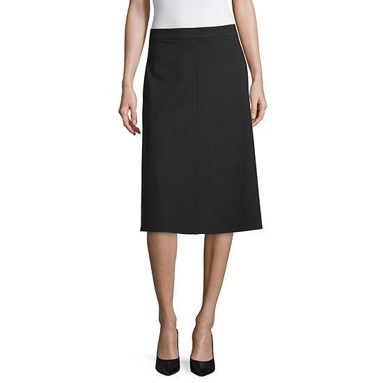 Liz Claiborne Studio Womens Long Flared Skirt