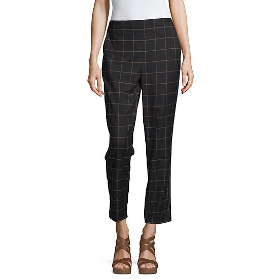 Liz Claiborne Simply Womens Mid Rise Straight Pull-On Pants