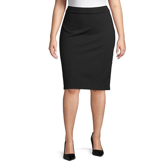 Liz Claiborne Womens Pencil Skirt-Plus