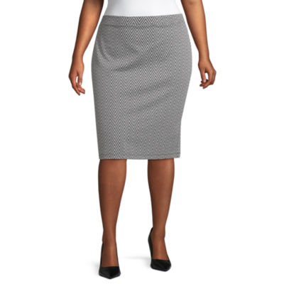 Liz Claiborne Ponte Pencil Skirt - Plus