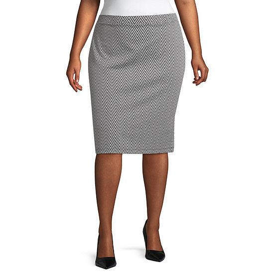 Liz Claiborne Ponte Pencil Skirt - Plus