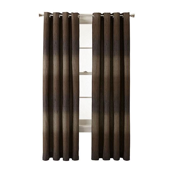 Studio Dakota Light-Filtering Grommet-Top Single Curtain Panel