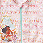 Disney Collection Little & Big Girls Moana Swimsuit Cover-Up Dress