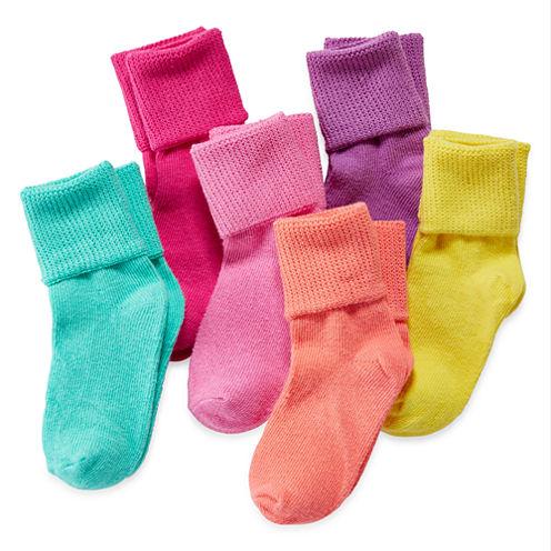 Okie Dokie® 6-pk. Bobby Socks - Toddler Girls