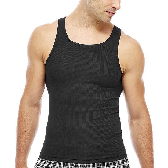 843925f923dac Hanes Men s ComfortBlend® FreshIQ™ Tank Undershirt 4-Pack - JCPenney