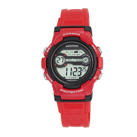 Armitron Pro Sport Womens Red Strap Watch-45/7064brd