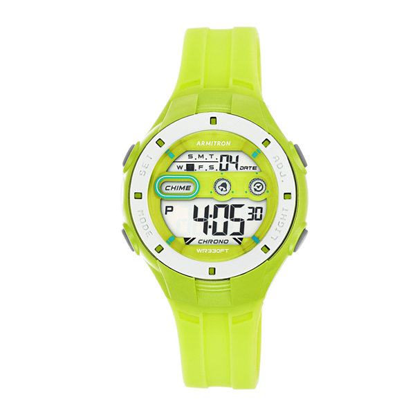 Armitron Womens Green Strap Watch-45/7067lgn