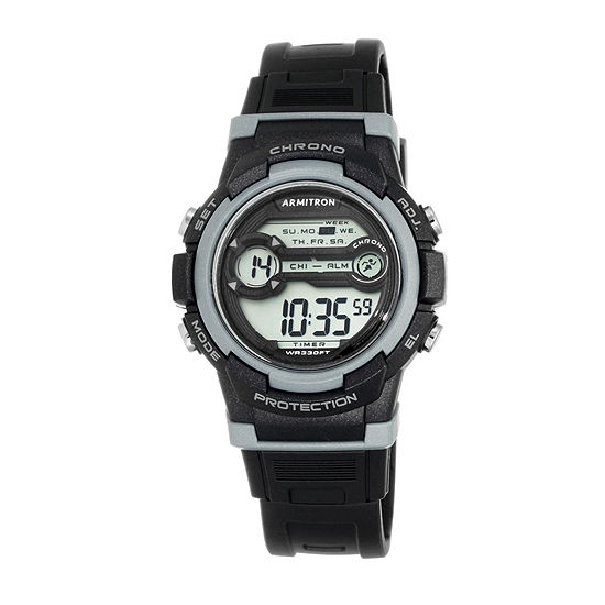 Armitron Pro Sport Womens Black Strap Watch-45/7064blk