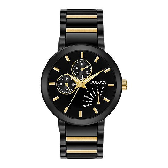 Bulova Futuro Mens Black Stainless Steel Bracelet Watch-98c124
