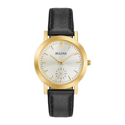 Bulova Womens Black Strap Watch-97l159