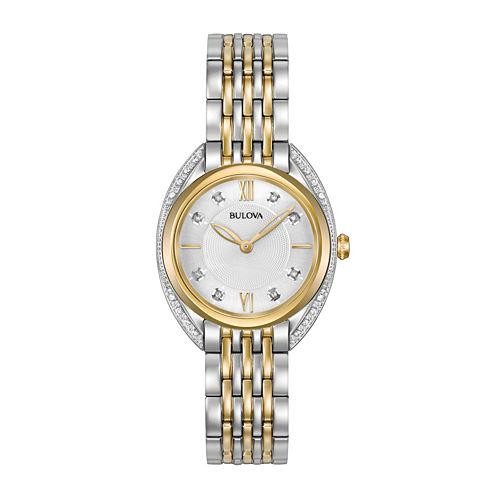 Bulova Womens Two Tone Bracelet Watch-98r229