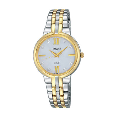 Pulsar Womens Two Tone Bracelet Watch-Py5024