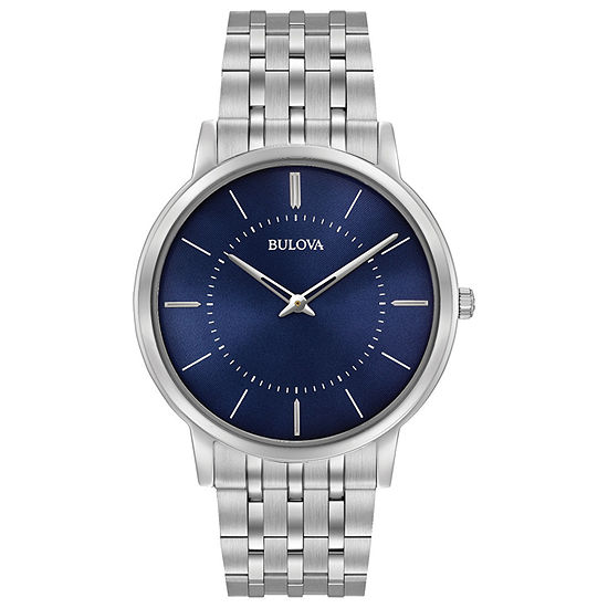 Bulova Classic Mens Silver Tone Stainless Steel Bracelet Watch-96a188